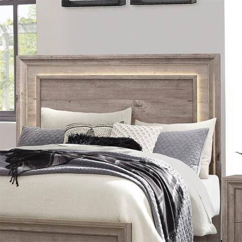 Queen Panel Headboard w/ Lights