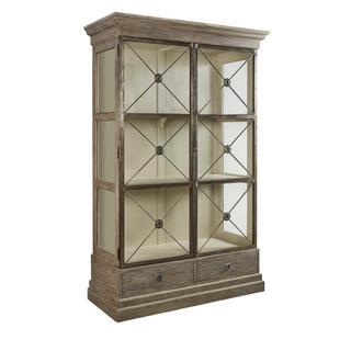 See Details - Xander Glass Door Bookcase