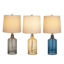 Hammered Glass Cylinder Accent Lamp. 40W Max. (3 pc. ppk.)
