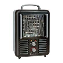 CZ798BK Radiant Electric Wire Element Heavy Duty Fan-Forced Heater, Black