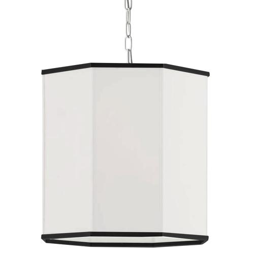 Product Image - 1lt Pendant, Mw W/ Wh Shade and Bk Trim