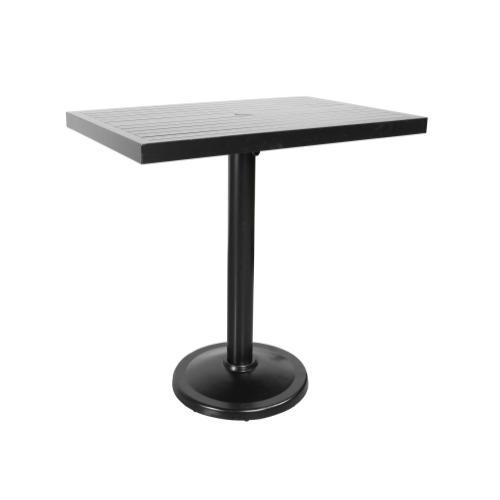 "Monaco 42"" x 28"" Rectangular Pedestal Bar Table"