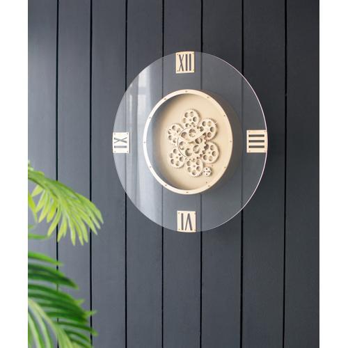 A & B Home - Arcylic Gears Wall Clock