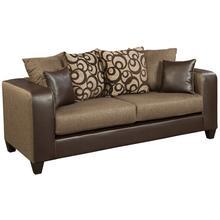 Riverstone Object Espresso Chenille Sofa