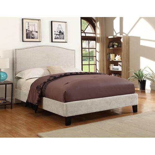 Emerald Home Colton Upholstered Bed Kit King Cream B126-12hbfbr-09