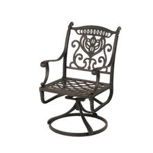 Grand Tuscany Swivel Rocker in Black
