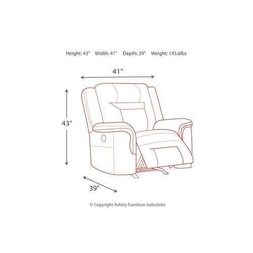 Wyline Pwr Recliner/adj Headrest Coffee