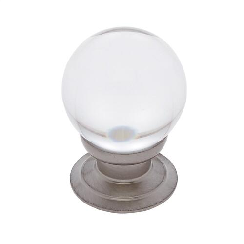 Satin Nickel 30 mm Smooth Crystal Knob