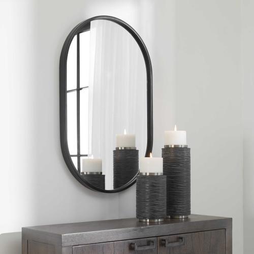 Uttermost - Varina Black Oval Mirror