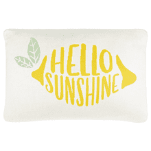"Lemon ""Hello Sunshine"" Lumbar Pillow"