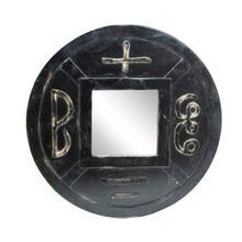 See Details - Carved Mirror, Brown