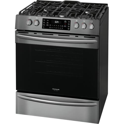 Frigidaire Gallery - Frigidaire Gallery 30'' Front Control Gas Range with Air Fry