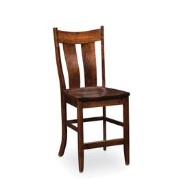 Corbin Stationary Barstool, Wood Seat