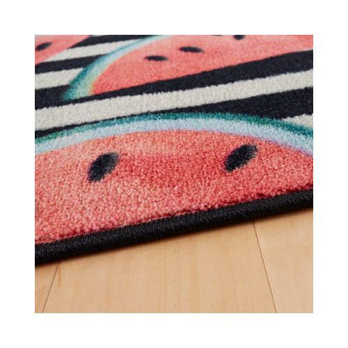 Mohawk - Watermelon Stripe, Black- Rectangle