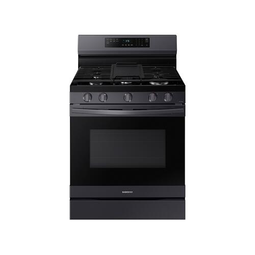 6.0 cu. ft. Smart Freestanding Gas Range with No-Preheat Air Fry & Convection in Black Stainless Steel