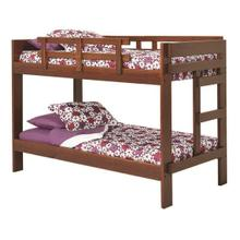 See Details - Heartland 2 x 6 One Piece Bunk Bed with options: Chocolate, Twin over Twin
