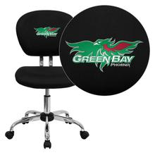 Wisconsin - Green Bay Phoenix Embroidered Black Mesh Task Chair with Chrome Base