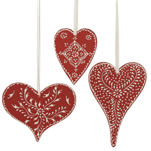 Heart Ornaments (3 asstd)