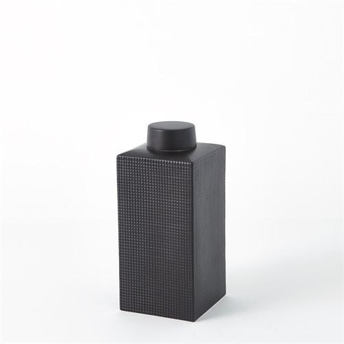Grid Texture Jar-Black-XLg