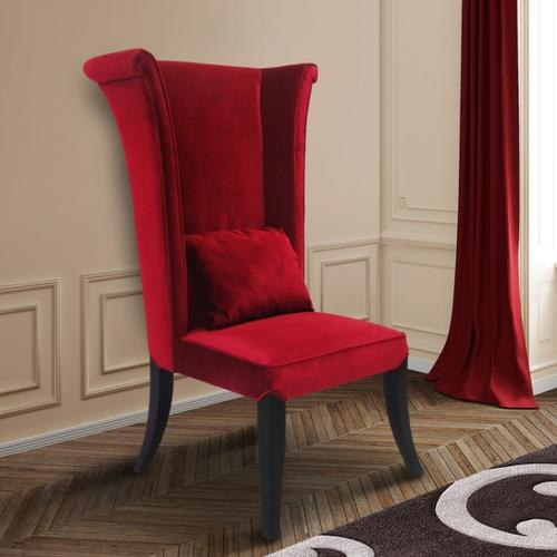 Mad Hatter Dining Chair In Red Rich Velvet