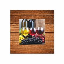 See Details - Three Glasses of Wine With Background Miniature Fine Wall Art