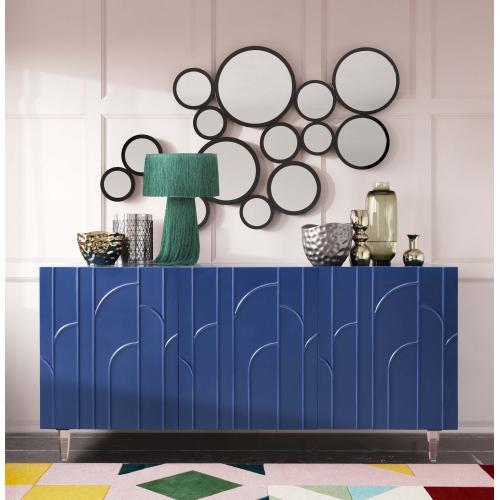 Tov Furniture - Deco Blue Lacquer Buffet