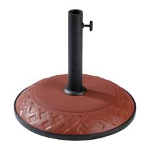 View Product - Resin Compound Basket Weave Umbrella Base - Terra Cotta