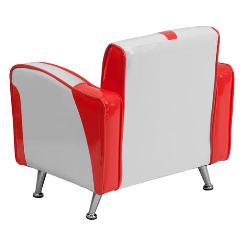 Kids Red and White Chair