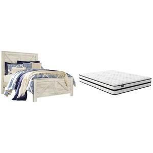 Queen Panel Bed With Mattress