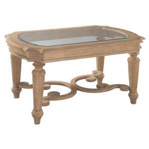 Grand Vista Rectangular Glass Top Coffee Table
