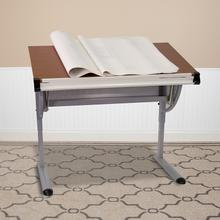See Details - Adjustable Drawing and Drafting Table with Pewter Frame