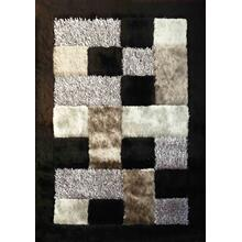 Designer Shag S.V.D. 30 Area Rug by Rug Factory Plus - 2' x 3' / Black