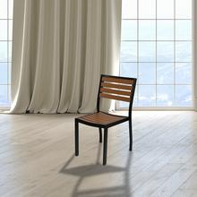 See Details - Outdoor Side Chair with Faux Teak Poly Slats