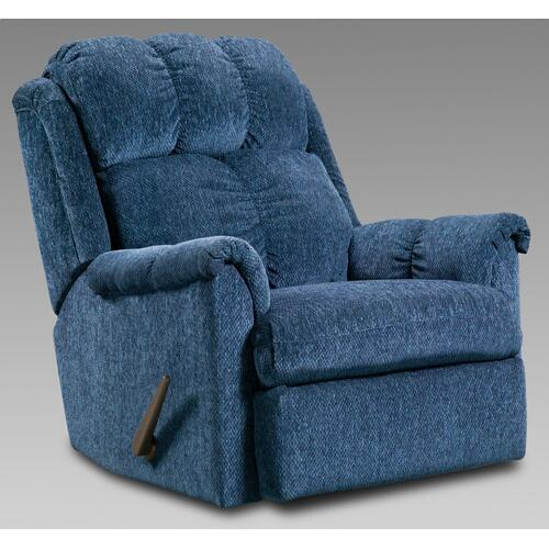 Tahoe Blue Rocker Recliner