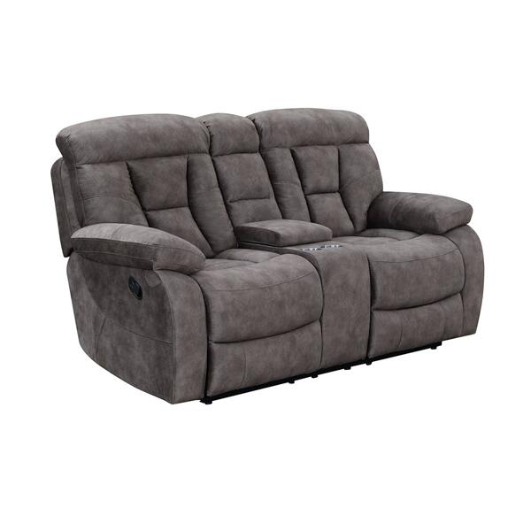 See Details - Bogata Manual Reclining Console Loveseat