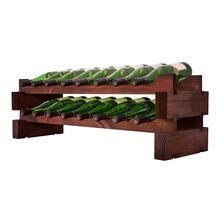 2 x 8 Bottle Modular Wine Rack (Stained)