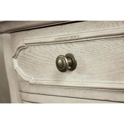 Elizabeth - Three Drawer Nightstand - Smokey White/antique Oak Finish
