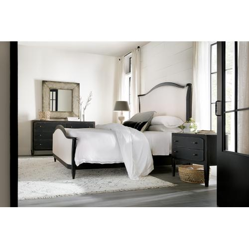 Ciao Bella Queen Upholstered Bed- Black