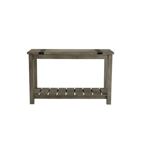 Standard Furniture - Nelson Rustic Brown Console Table, Grey