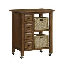 Tuscan Retreat® 2 Basket Kitchen Cart - Antique Pine