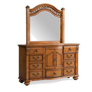 See Details - Barkley Square Dresser & Mirror Set