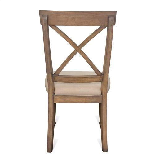 Product Image - Aberdeen - X-back Side Chair - Weathered Driftwood Finish