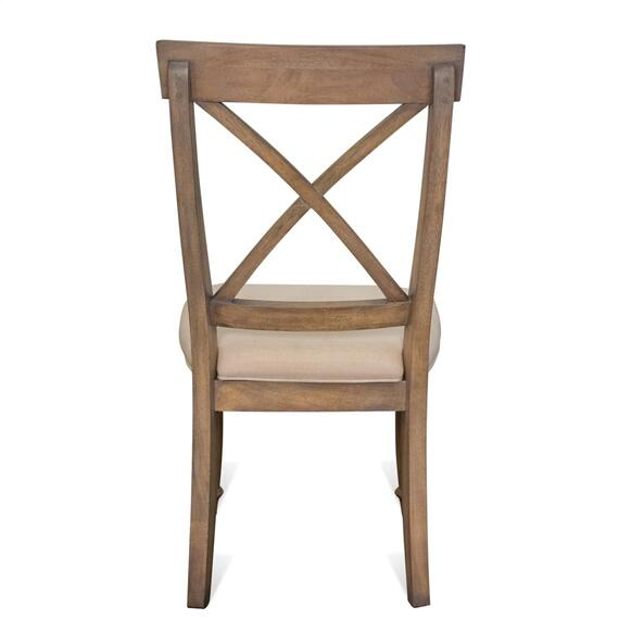 Riverside - Aberdeen - X-back Side Chair - Weathered Driftwood Finish