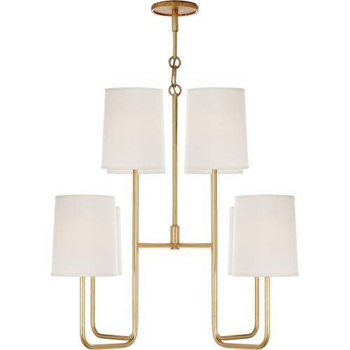 Visual Comfort BBL5081G-S Barbara Barry Go Lightly 8 Light 31 inch Gild Chandelier Ceiling Light
