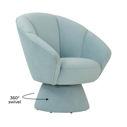 Tov Furniture - Allora Light Blue Accent Chair