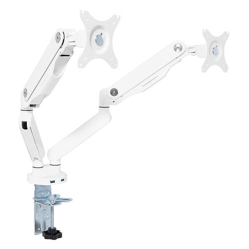 Infinite-adjust Double Monitor Arm With Dual Usb 3.0 Ports, White