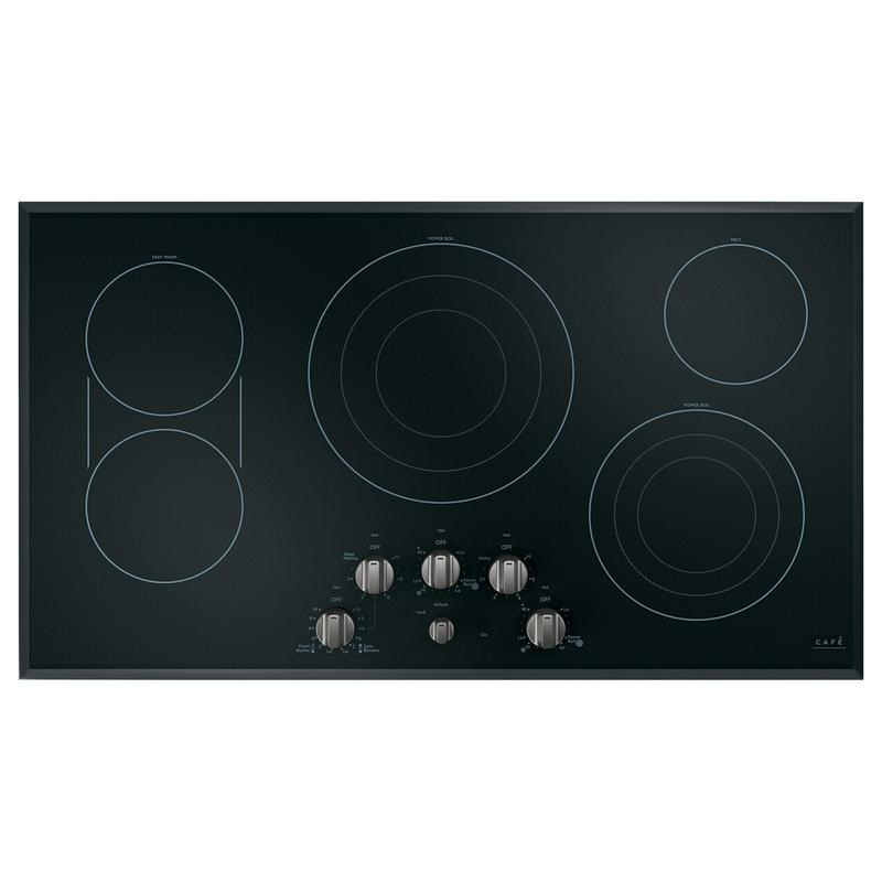 Café 5 Electric Cooktop Knobs - Brushed Black