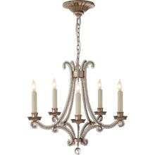 Visual Comfort CHC1559BSL-CG E. F. Chapman Oslo 5 Light 17 inch Burnished Silver Leaf Chandelier Ceiling Light