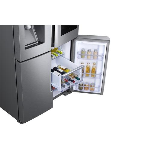 22 cu. ft. Family Hub™ Counter Depth 4-Door Flex™ Refrigerator in Stainless Steel