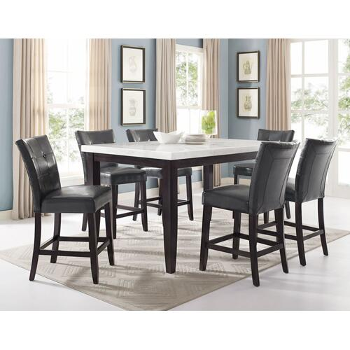 Gallery - Francis 7 Piece Marble Top Dining(Table & 6 Side Chairs)